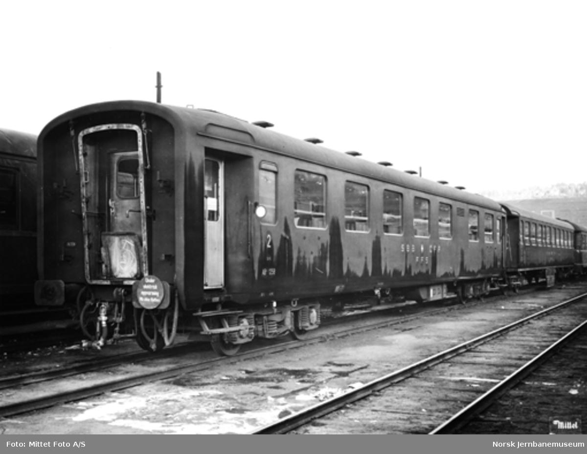 Innleid sveitsisk personvogn litra AB4 nr. 1258