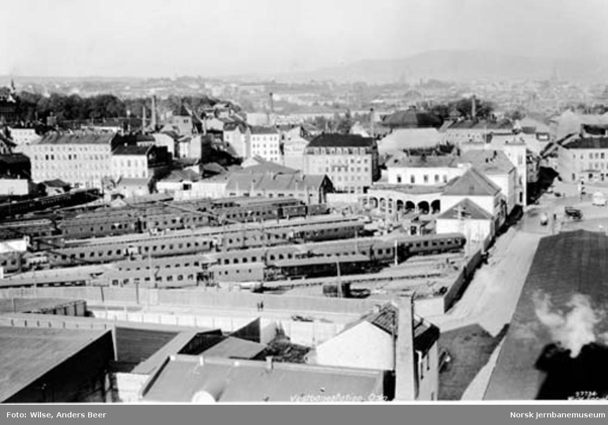 Oversiktsbilde fra Oslo Vestbanestasjon