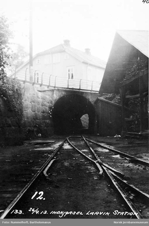 Innkjørsel til Larvik stasjon