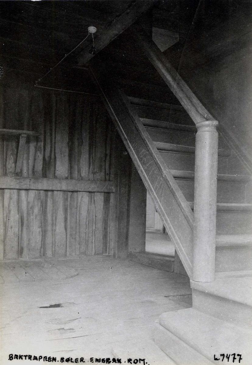 Bøler, Enebakk, Nedre Romerike, Akershus. Baktrappa.