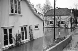 Serie. Stor flom i et boligområde i Røyken. Flere boliger st