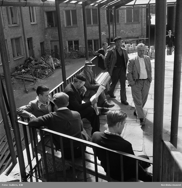 Män som väntar på jobb, Göteborg.