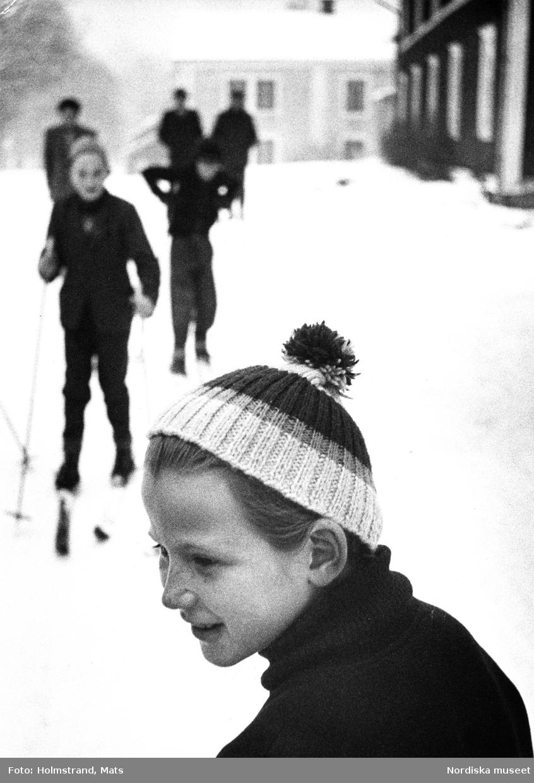 Ungerska barn på flyktingförläggningen i Loka brunn.