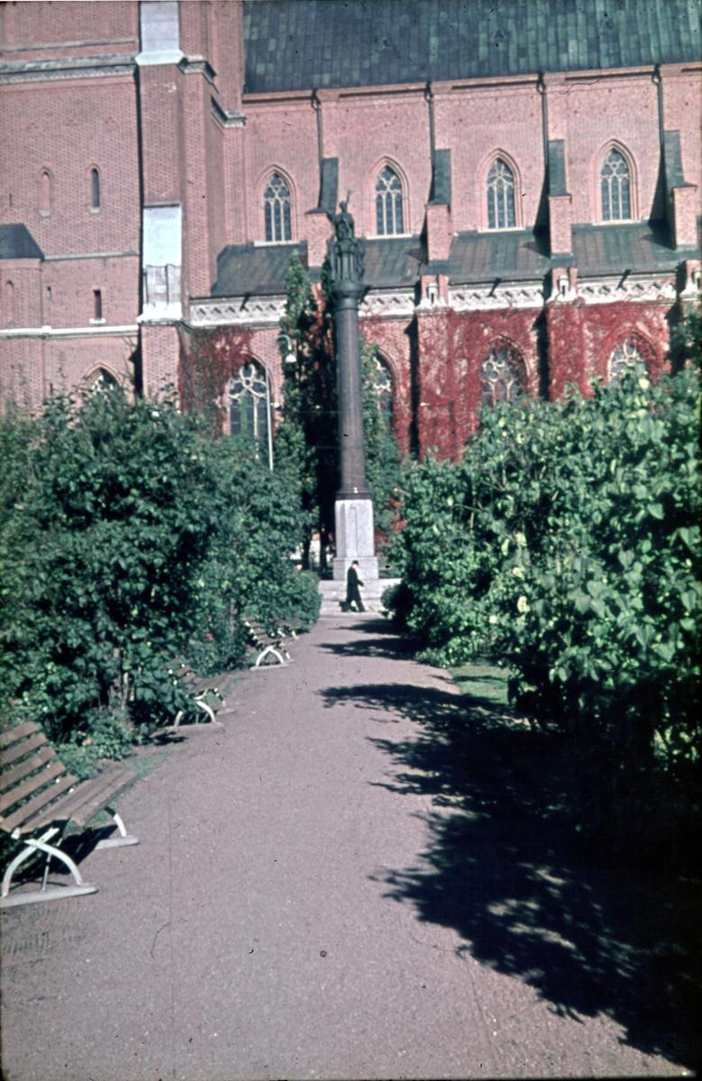 Uppsala domkyrka från Riddartorget, Uppsala 1945 - 1950