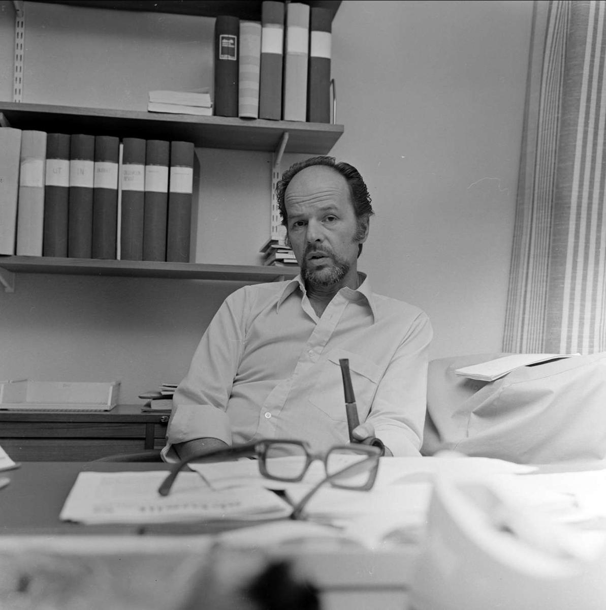 Bengt-Sverre Hållquist, ny rektor i Tierp, Uppland juli 1973