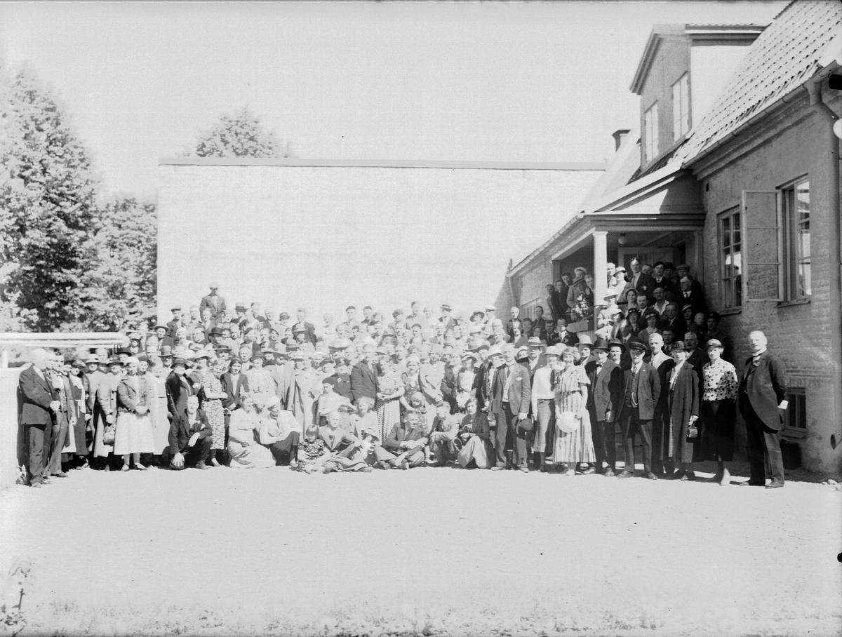 Grupporträtt - Uppsala Dövstumförening, Timmermansgatan, Uppsala 1934