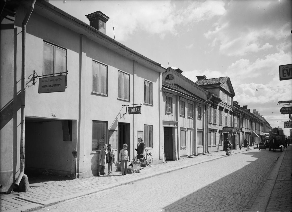 Kvarteret Svanen, Dragarbrunnsgatan, Uppsala 1946