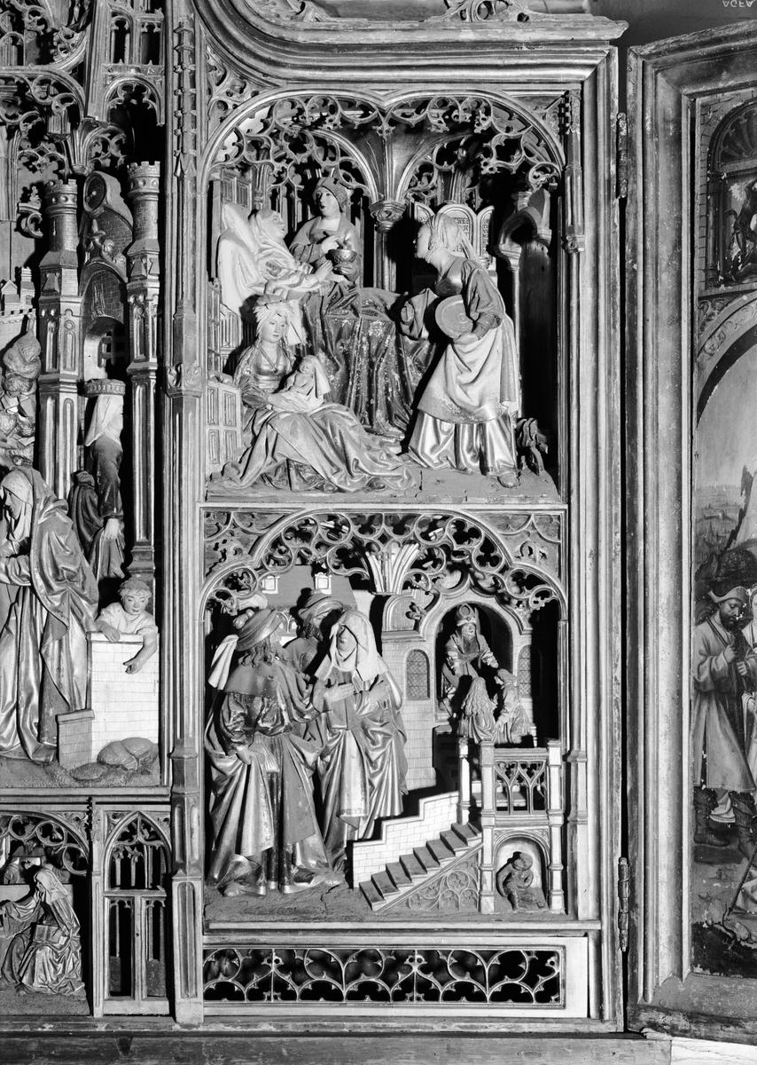 Detalj av altarskåp i Uppsala domkyrka, Uppsala 1933