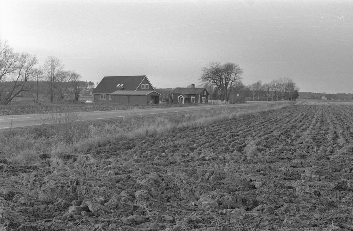 Vy från öster över Lilla Åby, Säby 4:6, Danmarks socken, Uppland 1978