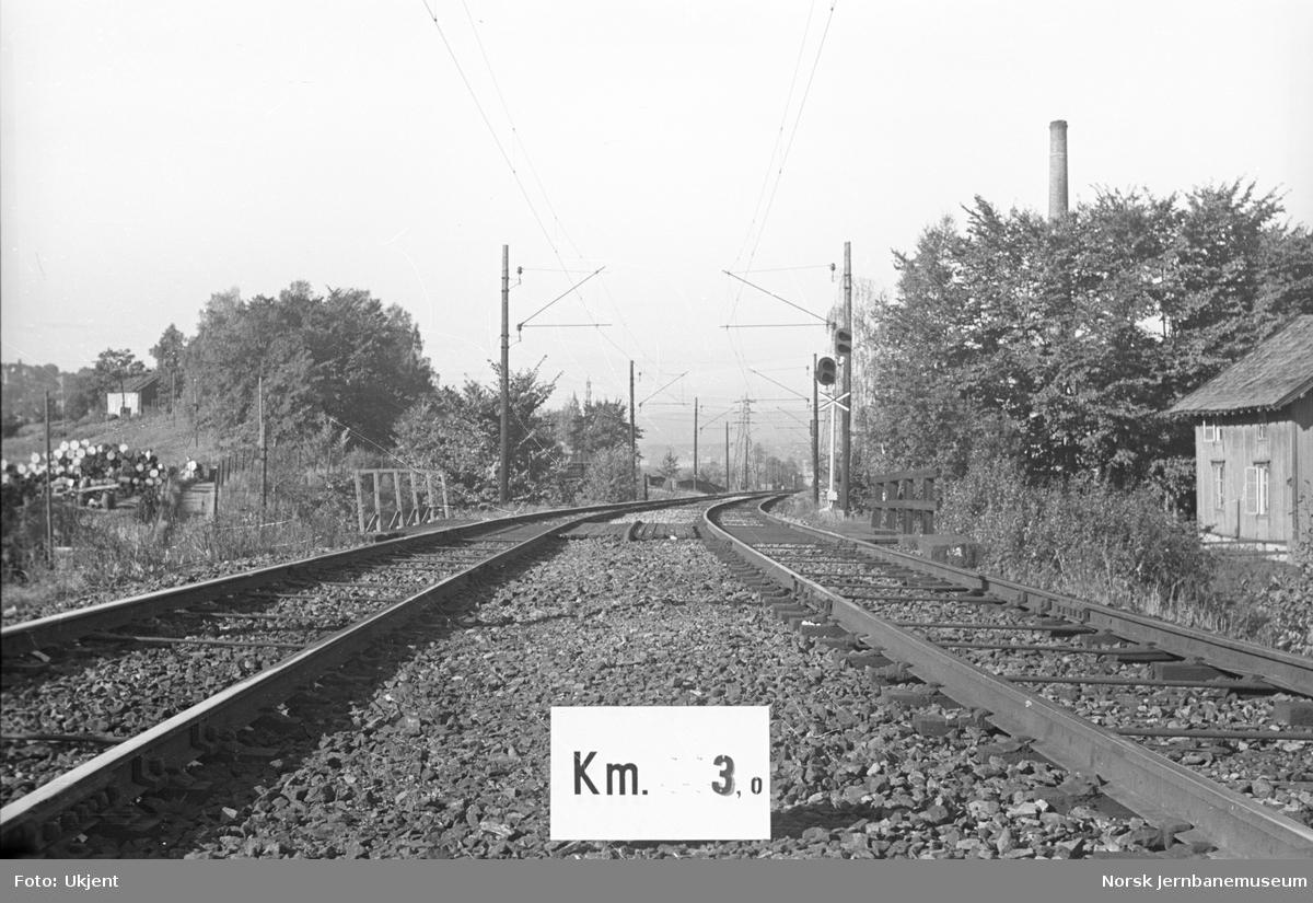 Hovedbanen : linjeføring km 3,0