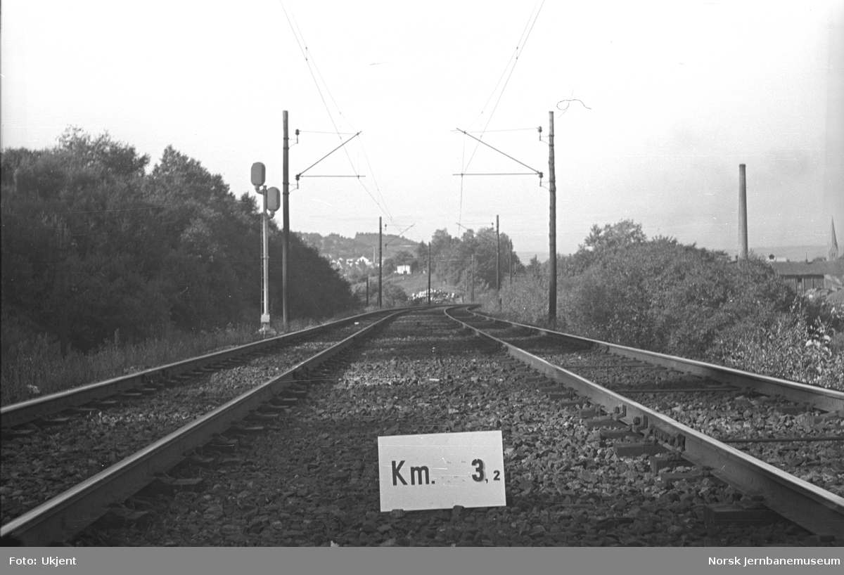 Hovedbanen : linjeføring km 3,2