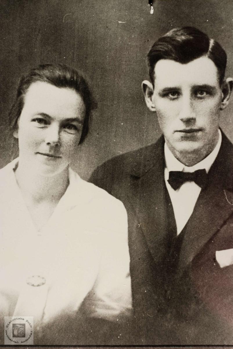Ungt par, Gudrun og Lars Leland i Grindheim.