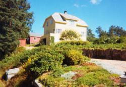 """""""Vestheim"""", Sveindal med nydeleg hage i sommersol. Grindheim."""