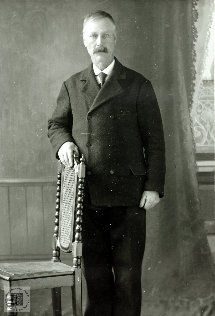Portrett av Johannes Høyland. Grindheim Audnedal.