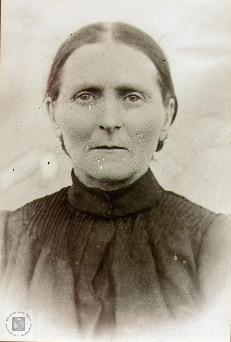 Portrett av Anna Maria Øydna. Grindheim Audnedal.
