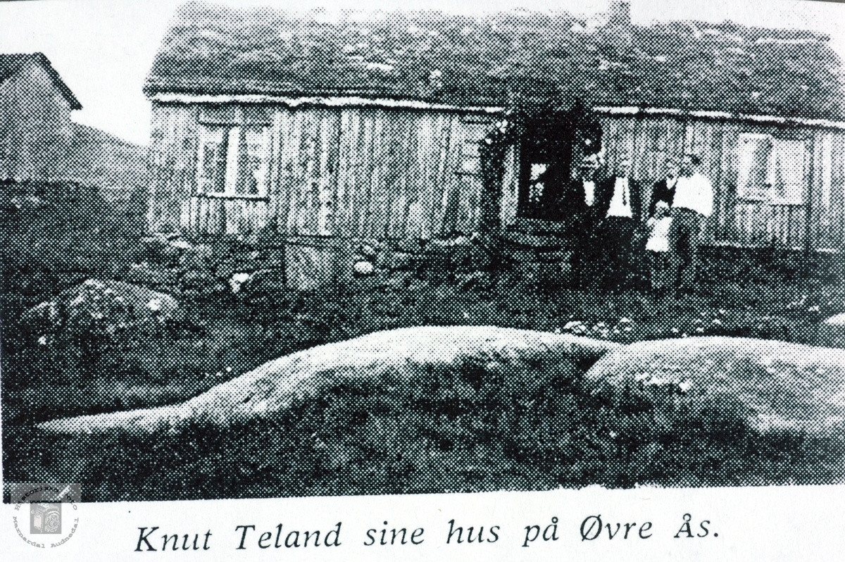 Knut Teland sitt hus på Øvre Ås. Grindheim Audnedal.