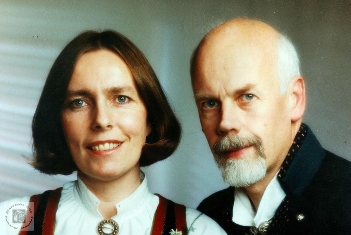 Brudeparet Tove og Svein Håland. Audnedal.