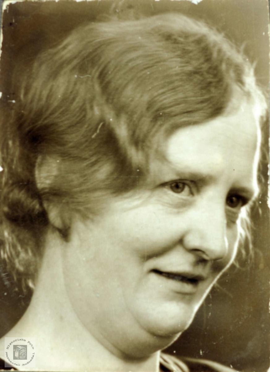 Portrett av Anna Leland. Grindeheim Audnedal.