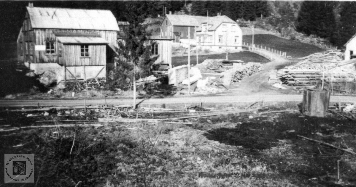 Snekkerverkstedet til Rudolf Roland på Monan, Bjelland.