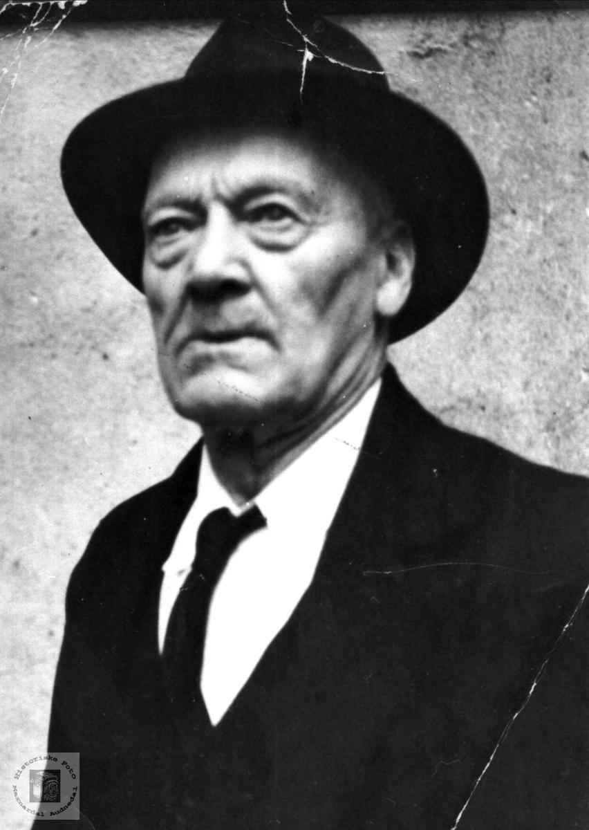 Portrett av Lars Sørenson Hesså, Bjelland.
