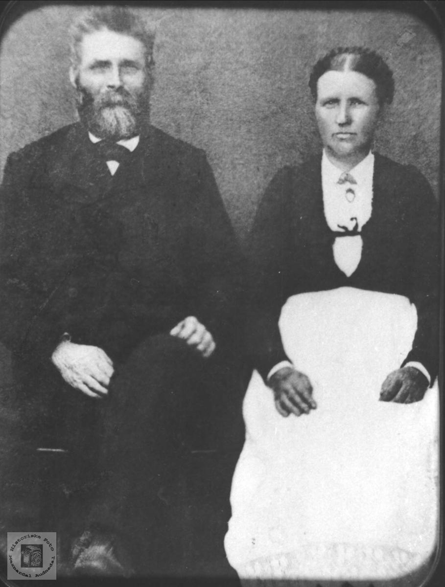 Portrett av ekteparet Kristen og Tarjer Laudal, Laudal.