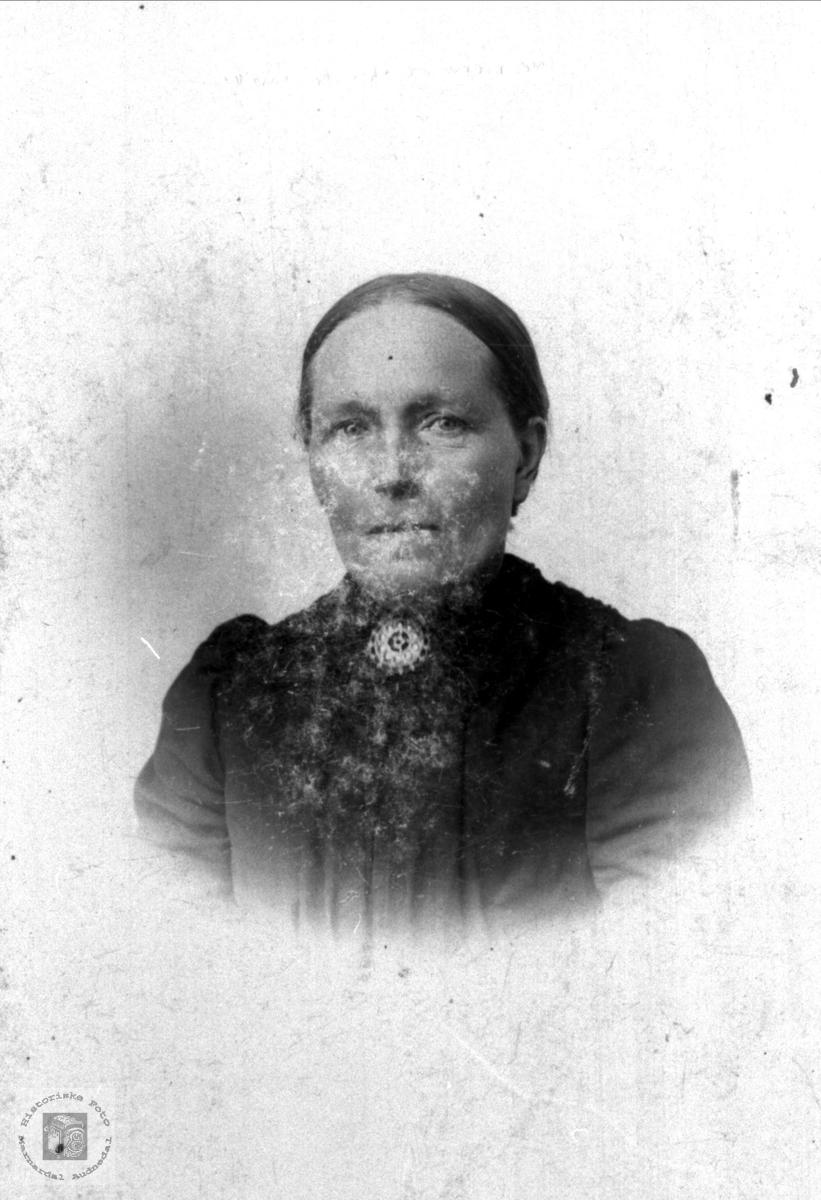 "Portrett Gurine Jesine ""Sina"" Skogen 1859-1940, Øyslebø."