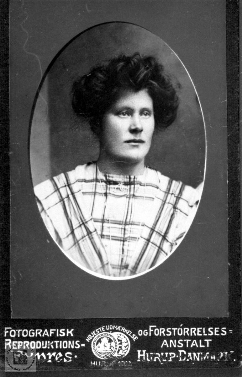 Portrett av Anna Stedjan, Bjelland.
