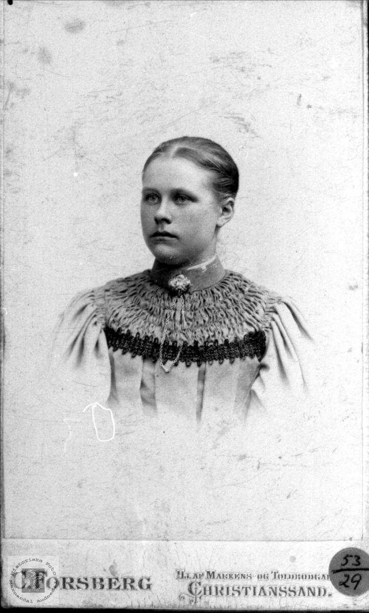Portrett av Asborg Manflå, Finsland.
