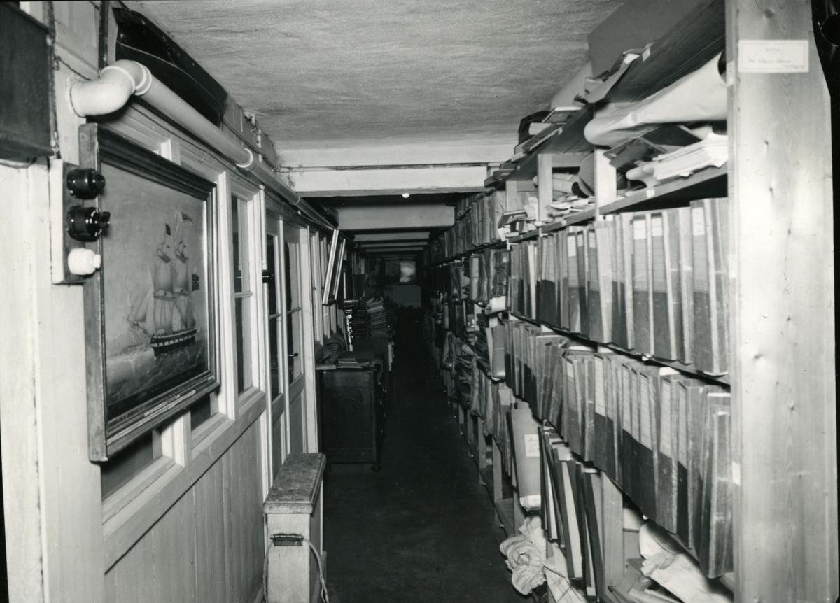Fra kjelleren. - Norsk Sjøfartsmuseums i Generalitetsgården på Norsk Folkemuseum.