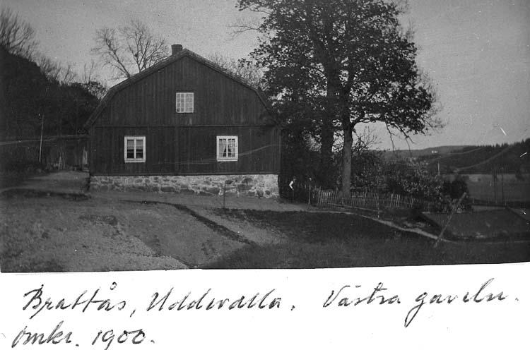 Västra gaveln Brattås gård
