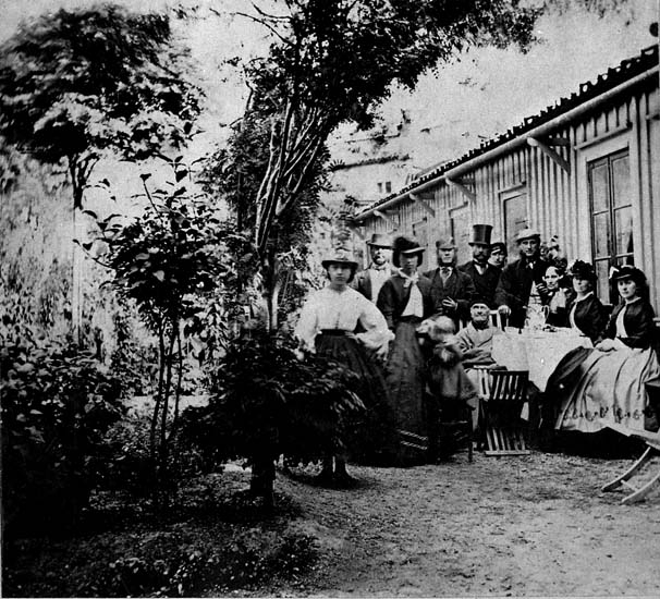 """""""Blomsterkroken"""", Johan Petter Kroks (1791 - 1868)  trädgård, Uddevalla."""