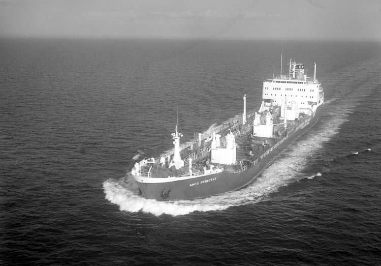 M/T Anco Princess DWT. 23.860 Rederi Athel Line Ltd., London Kölsträckning 70-10-30 Nr. 239 Leverans 71-07-07 Tankfartyg