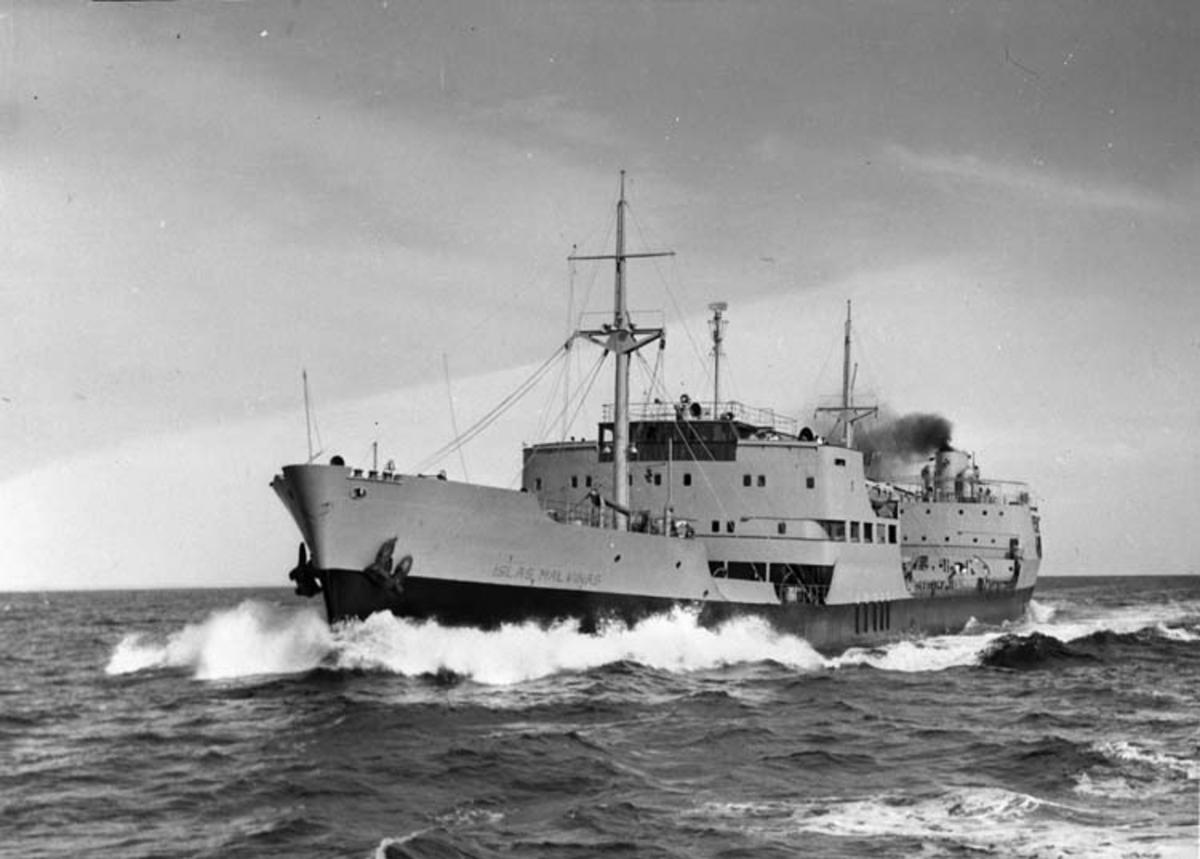 M/T Islas Malvinas D.W.T. 13.320 Rederi Y. P. F. Buenos Aires Kölsträckning 48-10-25 Nr. 111 Leverans 50-08-04 Tankfartyg