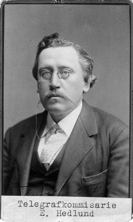 Telegrafkommissarie Edvard Hedlund (1837 - 1917)