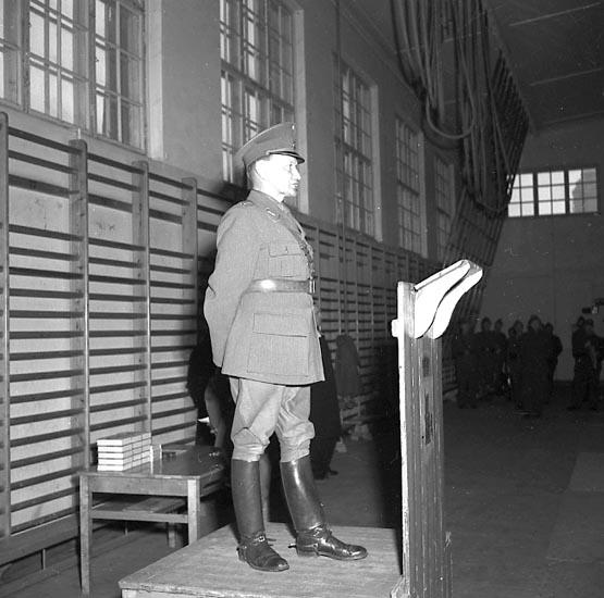 "Enligt notering: ""Regementet 1/4 1947""."