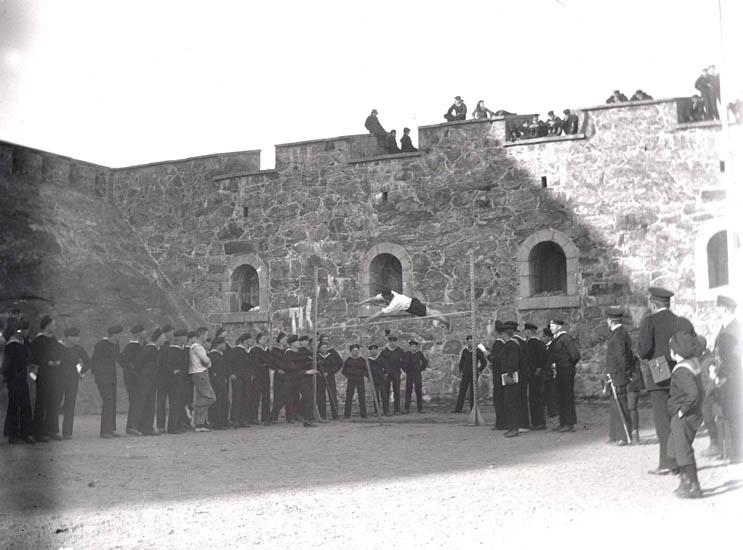 Idrottstävlingar i Kommendantshagen, Torsdagen den 19/4 1923. 4 st. Kopierade.