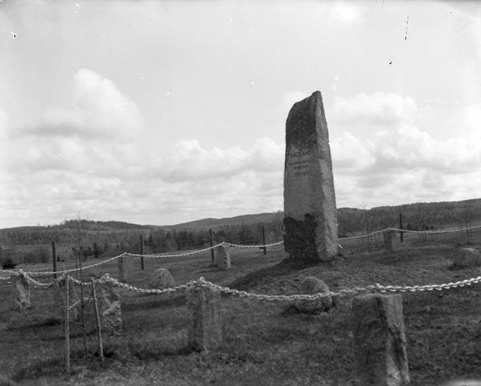 """Enligt fotografens noteringar: """"1929. Stenen Backamo. Den gamla exercisplatsen från Backamo."""""""