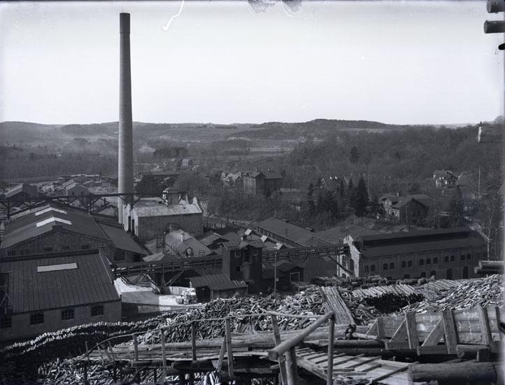 """Mab. 1921. 126. Detalj af Munkedals fabrik."" ""Se bilaga A."" (UMFA53666:1148a)."