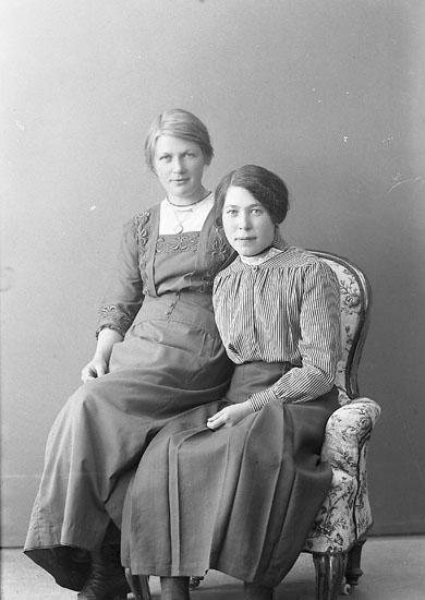 """Enligt fotografens journal nr 3 1916-1917: """"Larsson, Jenny Hullebäcken, Svenshögen""""."""