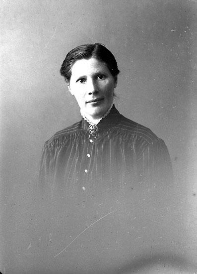 """Enligt fotografens journal nr 3 1916-1917: """"Svensson, Lovisa S. Skår Här""""."""