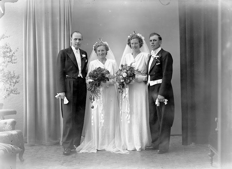 """Enligt fotografens journal nr 7 1944-1950: """"Scherman, Herr Sture o Karl Nilsson""""."""