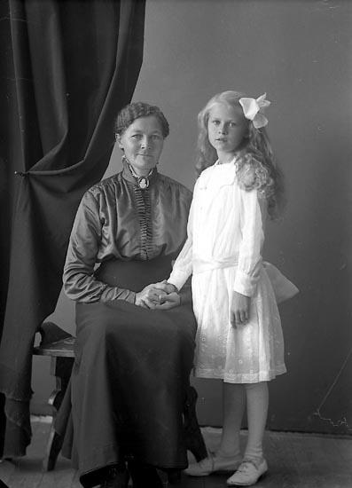 """Enligt fotografens journal nr 4 1918-1922: """"Josefsson, Fru Jenny Vestergård Här""""."""