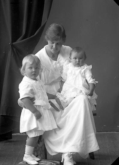 "Enligt fotografens journal nr 4 1918-1922: ""Hallberg, Fru Tandl. med barn Gbg""."