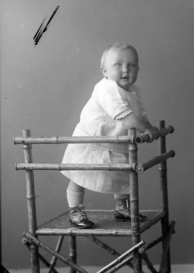 """Enligt fotografens journal nr 3 1916-1917: """"Olsson, Herbert Strandnorum Här""""."""