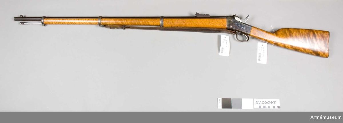 Grupp E II f. 1867 års gevär m/1874. Med rem.