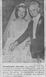 Brudparet Arne och Ingrid Pettersen 1941