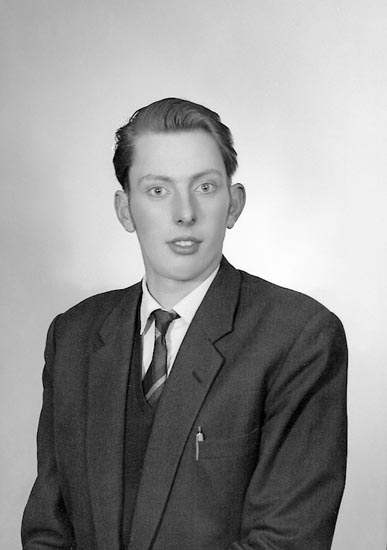 "Enligt fotografens journal nr 9 1958-: ""Abrahamsson, Herr Arne, Halls, Svanesund""."