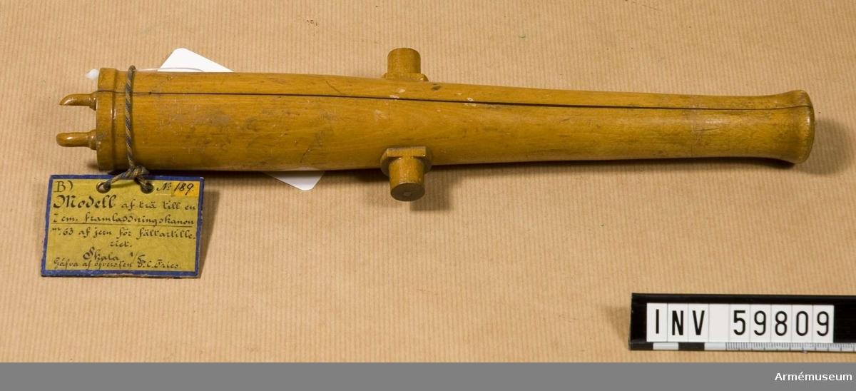 Grupp F I.  Till 7 cm framladdningskanon m/1863 för fältartilleriet.