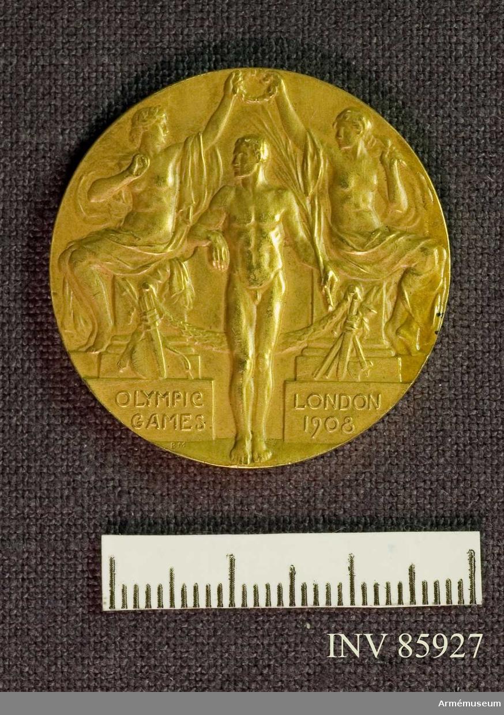 Grupp M II. Guldmedalj vunnen av Oscar Gomer Swahn i löpande hjort, enkelskott, OS 1908 i London.