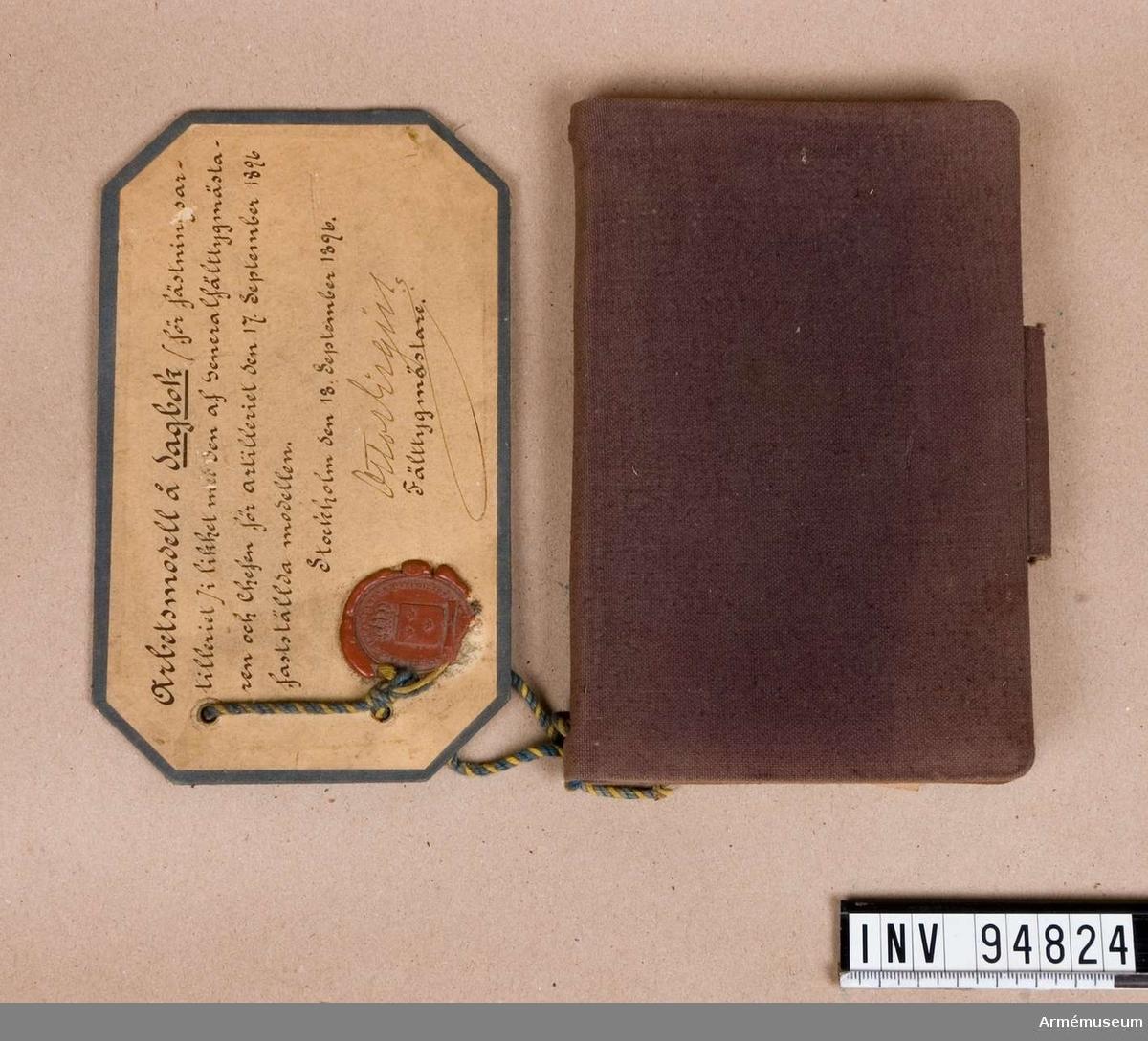 Stadfäst den 18 september 1896.